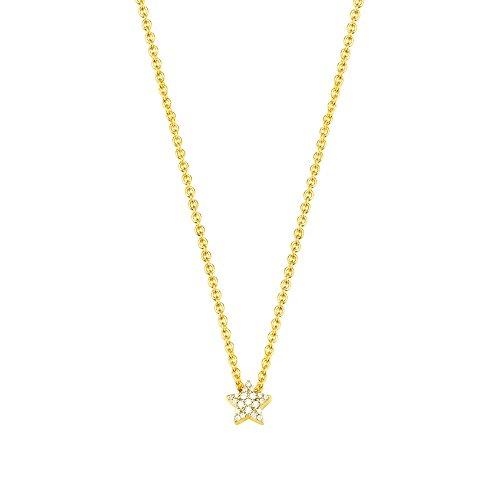 ESPRIT Damen Halskette 925 Sterling Silber Zirkonia Petite ESNL92979B420