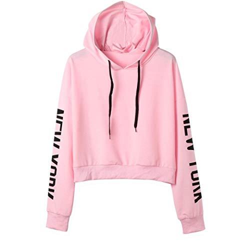 KIMODO Damen fashion langarm-kapuzen s rosa