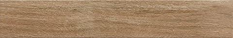 Light Brown Porcelain Matt Wall Floor Plank Tiles Bathroom Kitchen Cloakrooms - 14.5 cm x 87 cm