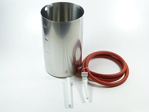 Irrigator aus Edelstahl, 2 Liter - Einlauf - Klistier - Fasten, von medtech3000