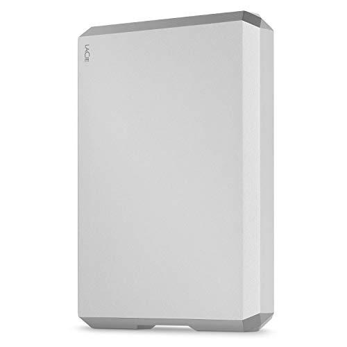 LaCie Mobile Drive 5 TB Externe tragbare Festplatte (6,35 cm (2,5 Zoll) für Mac und PC, Gehäuse aus Aluminium) silber