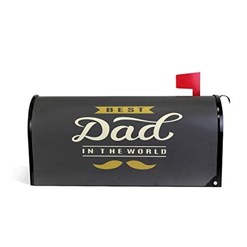 ZZKKO Couverture magnétique pour boîte aux Lettres Motif Best Dad in The World 25,5 x 52,8 cm 20.8\
