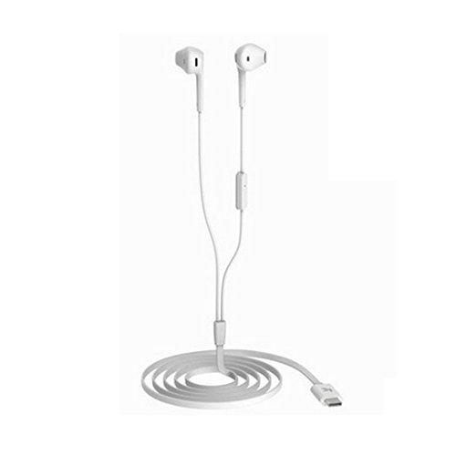 Bluetooth-ohr-stecker (Universal USB Typ C Kopfhörer In Ear Haken Kopfhörer Headset für Smartphone Weiß)