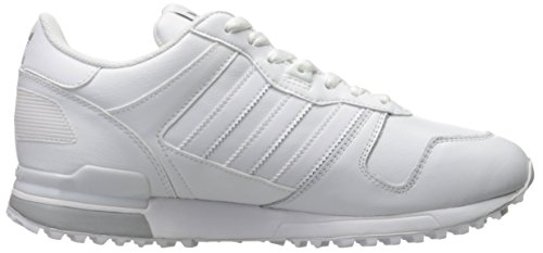 Adidas Originals Zx 700 Lifestyle esecuzione scarpa da tennis, nero / luce solido grigio / nero, 4 M (White/White/Light Granite)
