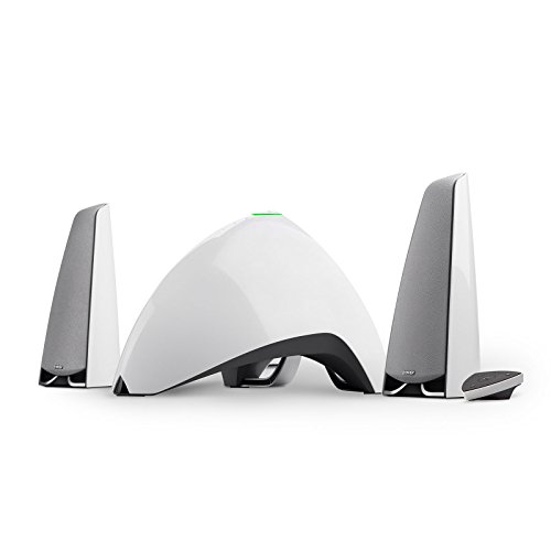 edifier pc lautsprecher Edifier E3360BT WT Prisma Encore 2.1 Bluetooth-Lautsprecher System (64 Watt) für Fernsehen/PC/Notebook/Tablet/Smartphone weiß