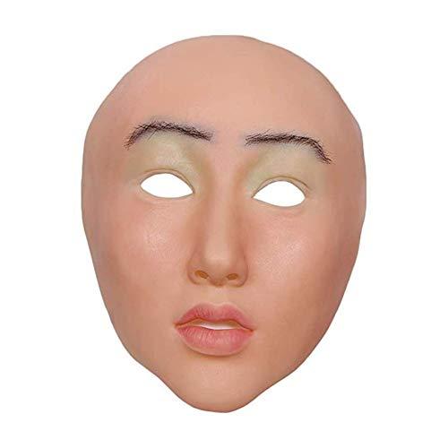 Realistische weibliche Maske sexy Silikon Maske Weihnachten Halloween schöne Engel Gesicht Cosplay männlich zu weiblich für Transgender Shemale