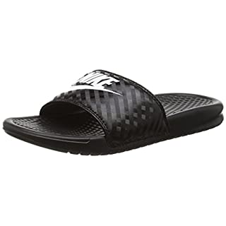Nike Women's's Benassi Beach & Pool Shoes, Black (Black/White 011), 5.5 UK