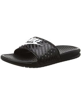 Nike Damen Benassi JDI Slide Sport-& Outdoor Sandalen, Bright Mango-White-Bright Mango, 42 EU