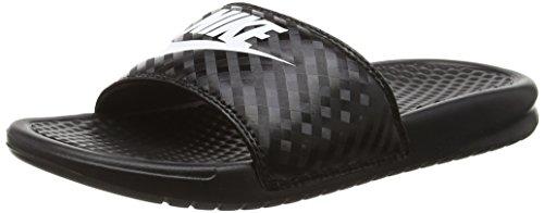 Nike - benassi jdi slide, sandali da atletica donna, black (black/white), 38 eu