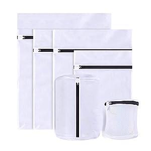 6-teiliges Wäschenetz Wäschesack, Wäschesack für die Waschmaschine mit Reißverschluss Kleidungswaschbeutel für empfindliche Büstenhalter Unterwäsche Strumpfhosen