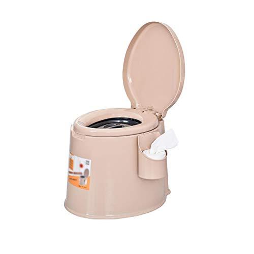 MyAou-commode Commode Chaise Portable Camp Toilette Portable Voyage Voyage Camping Pique-Nique Festival en Plein Air (Couleur : Marron)