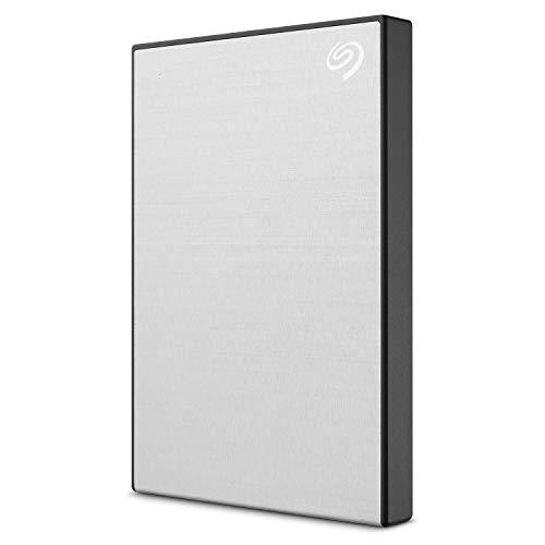 Seagate Backup Plus Slim 1 TB externe tragbare Festplatten (für PC und Mac, 2,5 Zoll) silber