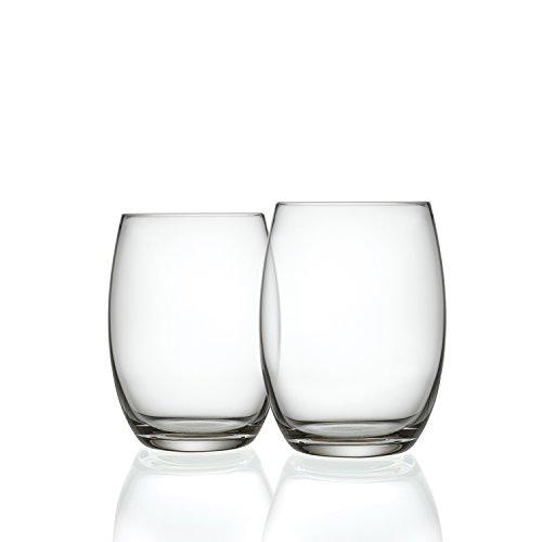 Alessi SG119/3S2 Longdrinkgläser Mami XL 2er Set aus Kristallglas, 500ml