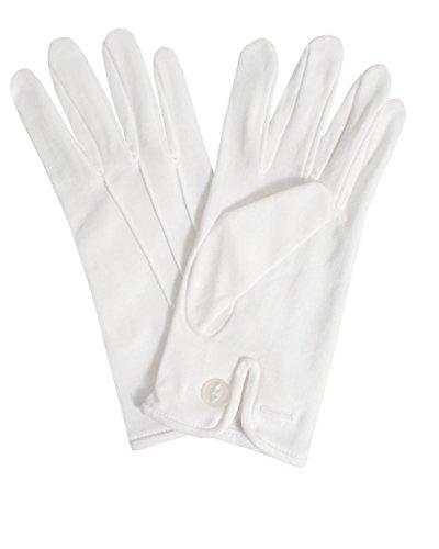 Dobell Weiße Handschuhe, Baumwolle