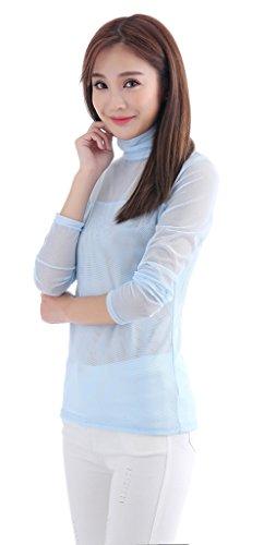 Auspicious beginning Camicia a maniche lunghe a maniche corte Donna, elegante, adatta alla camicia alta, misura M-XL Oro