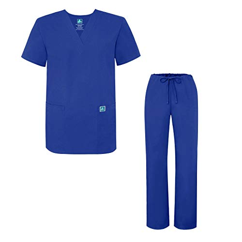 Adar Mens Medical Scrubs Set Medical Uniforms - Roomy Fit - 701 - Ryl -XL Scrub Hat