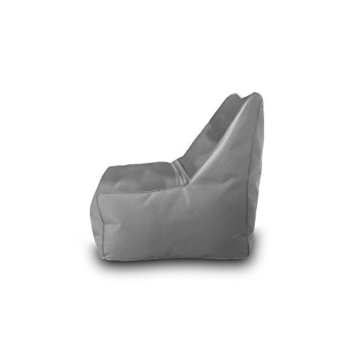 Pufmania Bean Bag Beanbag Chair Polyester Waterproof 75 x 75 cm (Grey Stone)