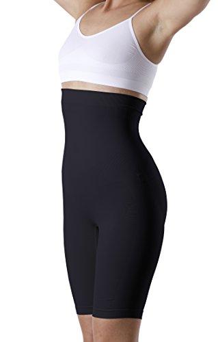 Damen Shapewear Figurformende Taillenhose mit Bein, Miederhose mit hohem Bund