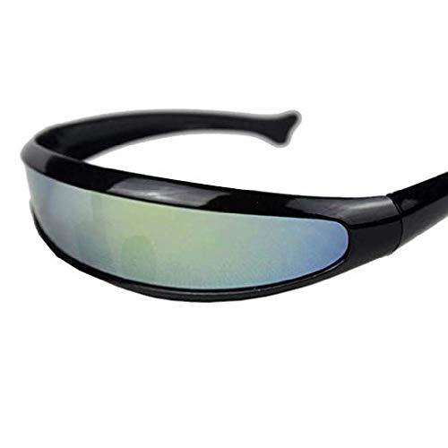 fyhtydsr Schwimmbrille Womens Man Outdoor Fischschwanz Uni-Objektiv Sonnenbrille Schwimmen Coole wasserdichte Brille Reiten Radfahren Brille Brillen