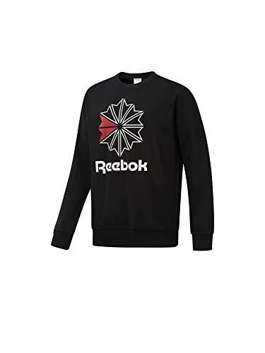 Reebok Herren Ac Ft Big Starcrest Crew Sweatshirt, Schwarz, XL (Reebok Sweatshirt)