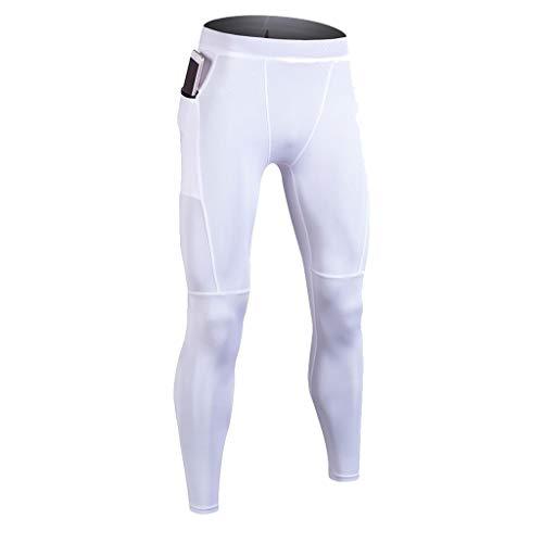 Celucke Sport Leggings Herren Laufhose Strumpfhose mit Print, Männer Funktionswäsche Fitness Hose Pro Cool Compression Tights mit Quick-Dry-Funktion