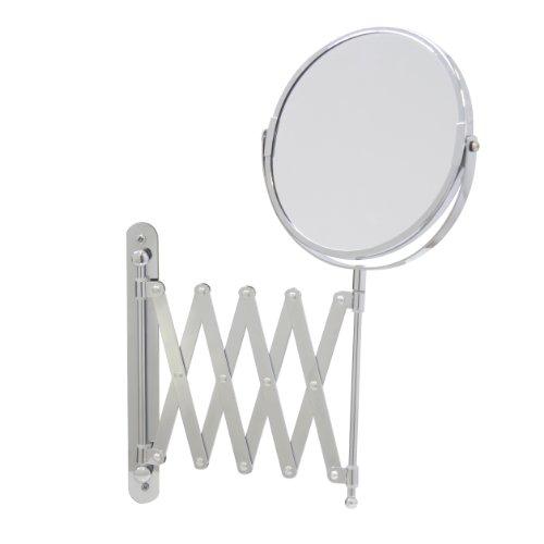 Axxentia Bad 282802 - Espejo de 3 aumentos con Brazo de Pared 17 cm, Extensible hasta 57 cm