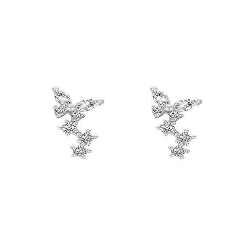 YiyueDamen Mode Ohrringe Elegante Ohrringe Aus 925 Ohrringe Wein Rot Holz- Pfirsich Herz Herz Geformten Ohren Schrauben Mädchen Ohrringe Ohren