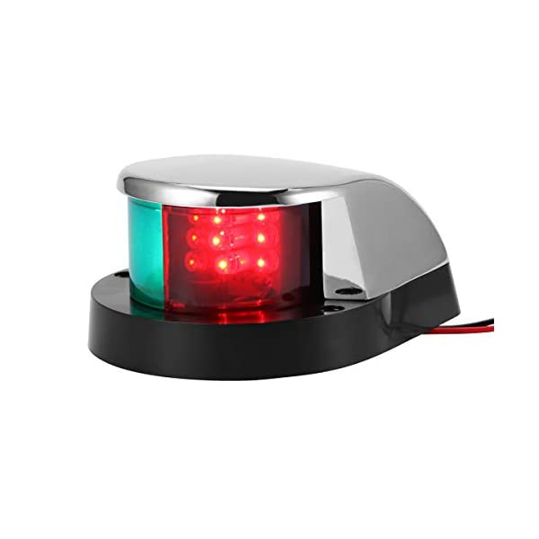 ALLOMN Boat Navigation Light 12V LED Navigation Lamp Red and Green Marine Light for Boat Yacht Stainless Steel Bow… 1