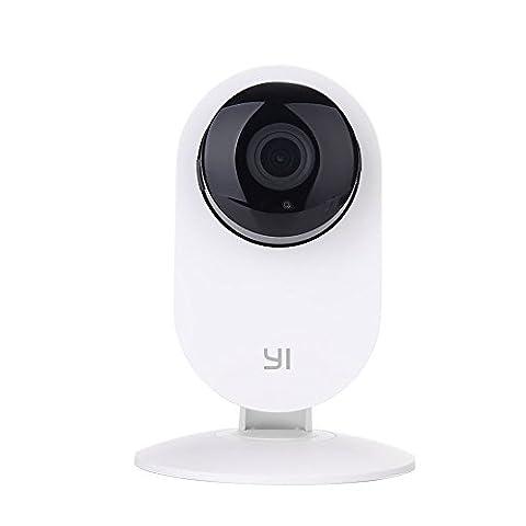 YI Caméra IP & HD Wireless 720p pour la Surveillance et la Sécurité, Caméra de Surveillance ( EU version )-Blanc