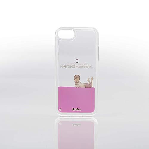 Clarilou Funda Smartphone - Diseño Exclusivo Keep Swimming Compatible con Iphone 8/7/6