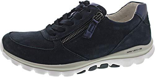 Gabor Rollingsoft Halbschuhe in Übergrößen Blau 06.968.46 große Damenschuhe, Größe:42
