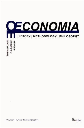 Oeconomia, Volume 1 N° 4, Décem :
