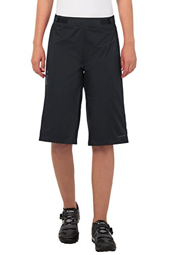 VAUDE Damen Hose Tremal Zip Off Rain Shorts, Black, 34, 05477