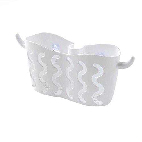 Hängende Küche-Ablagekorb-freie Saugnapf-Lagerung Hängende Korb-Hahn-Spülungs-Schwamm-Ablaßkorb für Badezimmer-Küche-Speicher-Regal für Hauptwohnzimmer