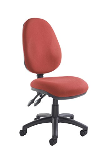 Price comparison product image Office Fabric Operator Chairs 2 lever PCB (Burgundy, No Arms)