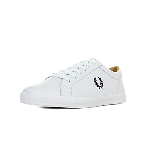 Fred Perry Baseline Leather White 43