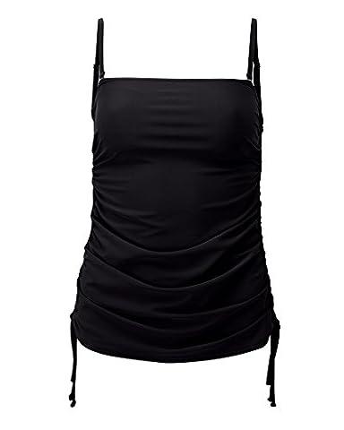 Cotton Traders Womens Ladies Long Tankini Top Flattering Swimwear Beachwear Black 14