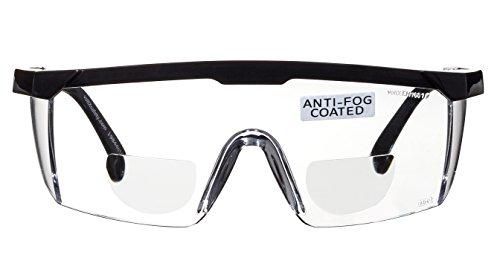 voltX 'Classic' farblose Bifokalschutzbrille (+2,5 Dioptrie) mit Sicherheitskordel CE EN166F...