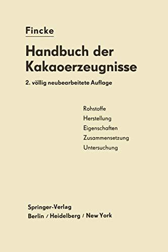 Handbuch der Kakaoerzeugnisse (German Edition)