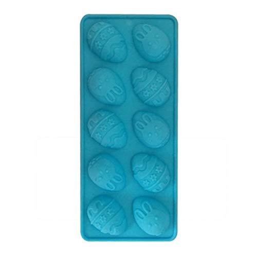 Lazbboy Ostern Osterhase Silikon Eier Schokoladenkuchen Seifenform Backen Eiswürfelform(Blau)