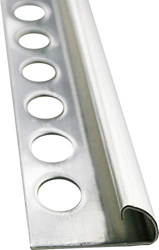 2,5 METER - Höhe: 10mm PREMIUM FUCHS Fliesenschiene Viertelkreisprofil Edelstahl V2A Gebürstet - 1mm Stärke (kein Verdrehen möglich) - 250cm Schiene