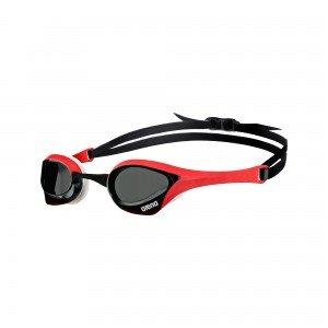 Arena Cobra Ultra Swim Goggle-Smoke Lens-Red/White Frame