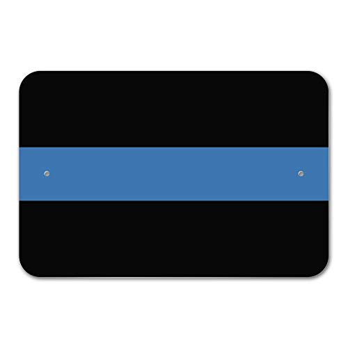 Co5675do Metal Sign 12x16 Inches Funny Sign Poster Plaque Thin Blue Line Police Policemen Law Enforcement Home Business Office Sign -