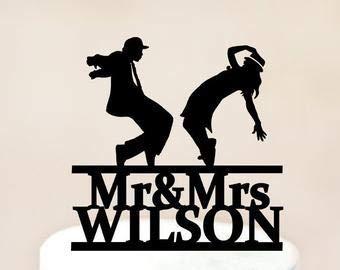 ochzeit, tanzendes Paar, Tanz Braut und Bräutigam, tanzende Silhouette, witzige Braut und Bräutigam, Hochzeitstorte ()