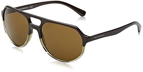 Emporio Armani Herren 0EA4111 Sonnenbrille, Grün (Green), 57