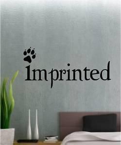 Online Design Aufdruck Aufkleber Wanddekoration Vinyl Edward Cullen Twilight - Blau - Edward Cullen Design