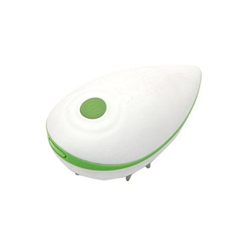 Healifty Peigne électrique de massage de cuir chevelu pour Soins Des Cheveux Soins de Santé (Vert)