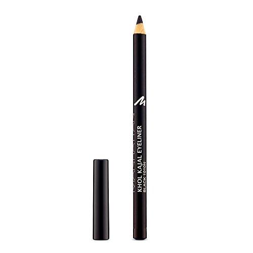 Manhattan Khol Kajal Eyeliner, Schwarzer Kohle-Kajalstift für Smokey Eyes und eine ideal umrandete Augenkontur, Farbe Black 1010N (1 x 1,3g)