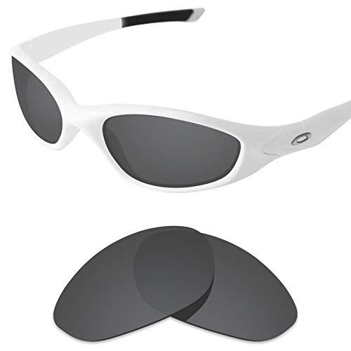 sunglasses restorer Kompatibel Ersatzgläser für Oakley Minute 2.0 (Polarisierte Black Iridium Gläser)