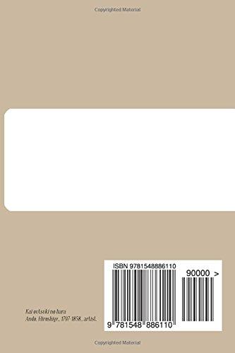 Notebooks & Journals, Carnet Blanc A6, Kai outsuki no hara (L'ukiyo-e): Couverture souple (10.16 x 15.24 cm)(Carnet de Notes, Carnet de Voyage, Cahier de Texte)